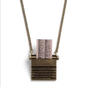 ModCloth Just My Type Typewriter Necklace